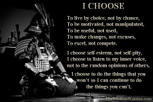 the way i choose to live
